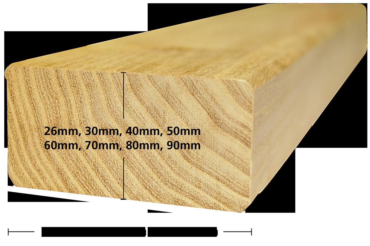 Unterkonstruktion aus Akazienholz - Robinie