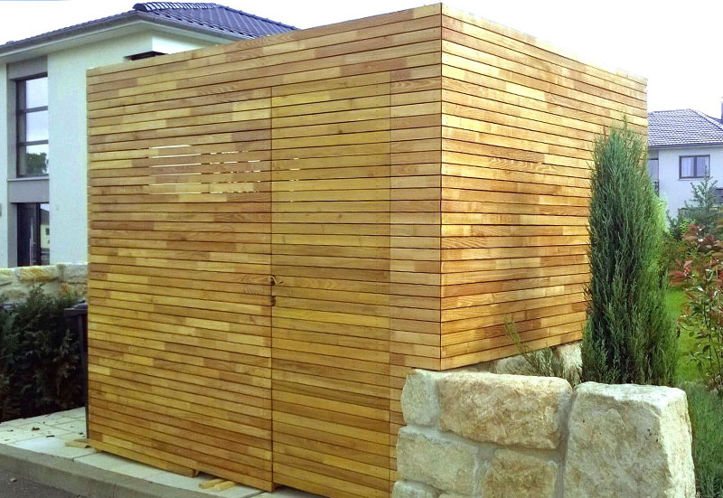 Gartenhaus - Geräteschuppen aus Robinie Rhombus Profil